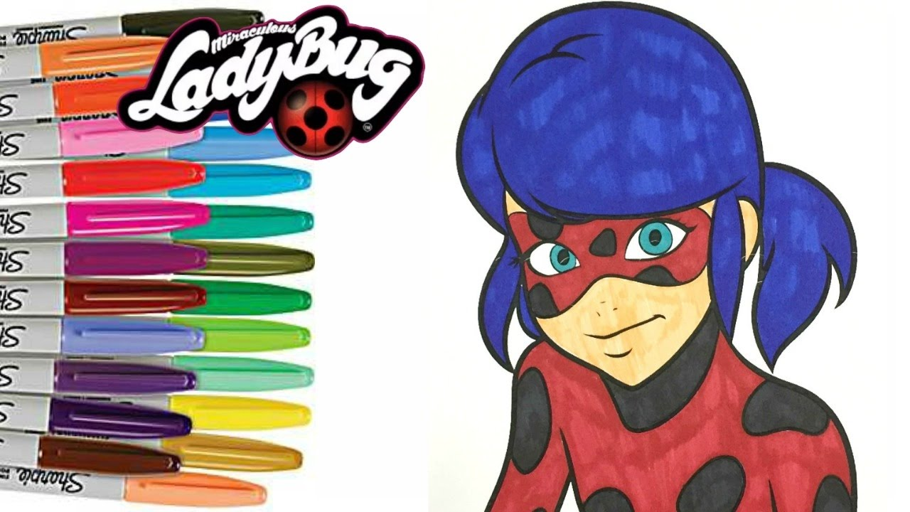 miraculous ladybug coloring book pages for kids how to color youtube