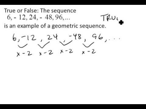 Find the Common Ratio of a Geometric Sequence - YouTube - geometric sequence example