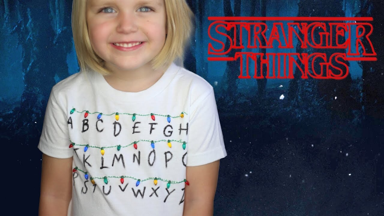 How To Make A Stranger Things Abc Christmas Lights Shirt Youtube
