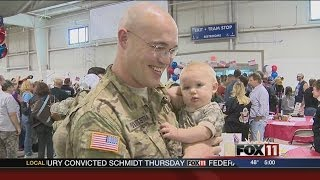 National Guard troops welcomed home