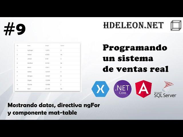 #9 Programando un sistema de ventas real | Directiva ngFor y mat-table de Material Design