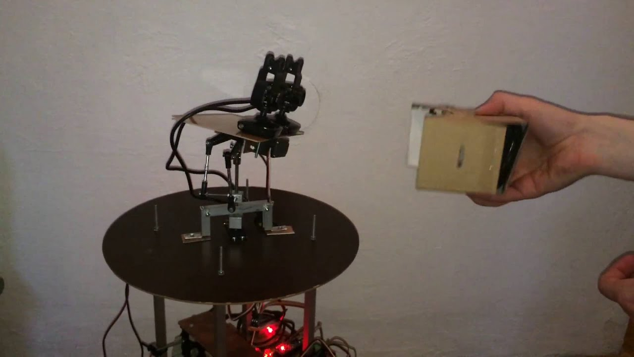 WIP: robot head with cameras connected to VR headset