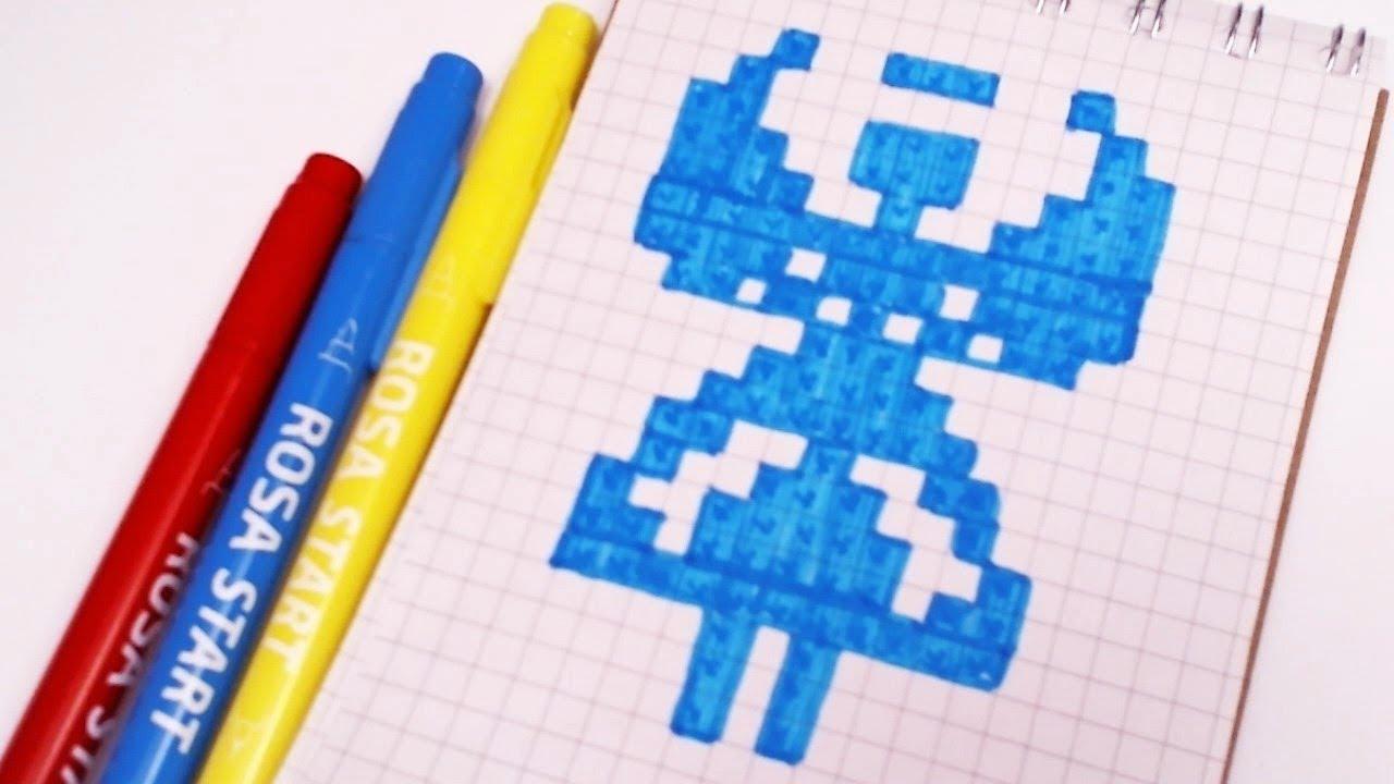 РИСУНКИ ПО КЛЕТОЧКАМ - АНГЕЛ -| Pixel Art - Простые рисунки Новый год