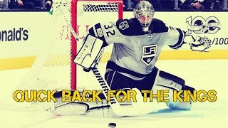 Jonathan Quick back for the LA Kings
