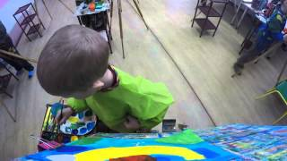 Урок рисования в Алёнке. Гуашь