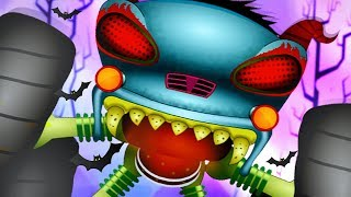 Haunted House Monster Truck Videos | Destroyer of Worlds | Car Cartoons For Babies kids videos