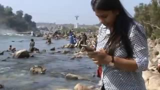 Female Holy Bath at Naramada River Jablpur,India