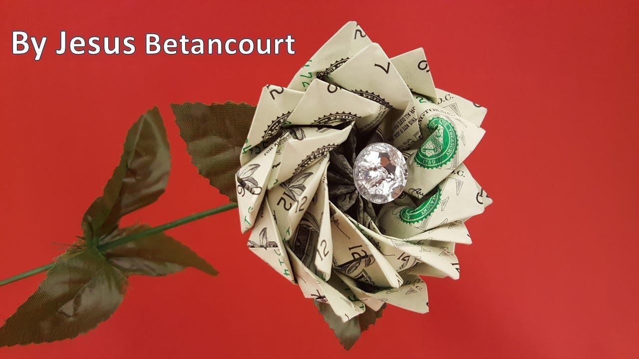 Money Flower Origami With 10 Dollar Bills Tutorial Youtube