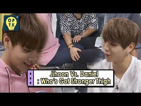 [Oppa Thinking - Wanna One] Ji Hoon Vs. Daniel: Who's Got Stronger Thigh?, 오빠생각 20170911