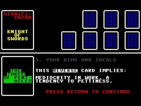 C64 Game - Tarot