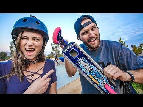 GIRLFRIEND VS RAYMOND WARNER MINI SCOOTER GAME OF SCOOT!