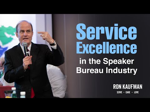 #1. Ron Kaufman on Service Excellence in the Speaker Bureau Industry