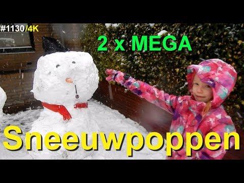 YES, its SNOWING in HOLLAND. Een MEGA sneeuwPOP maken #1130