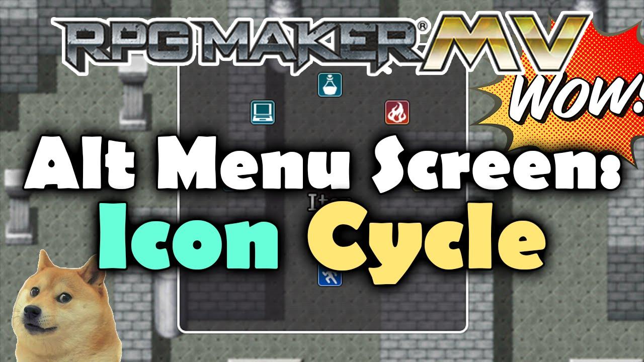 Alt Menu Screen: Icon Cycle – MV Plugin – RPG Maker MV Plugins