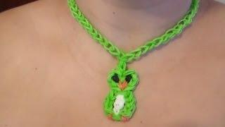Repeat youtube video Collar de Gomitas en Forma de Búho:/ Parte 1