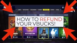 How to refund your Vbucks on Fortnite