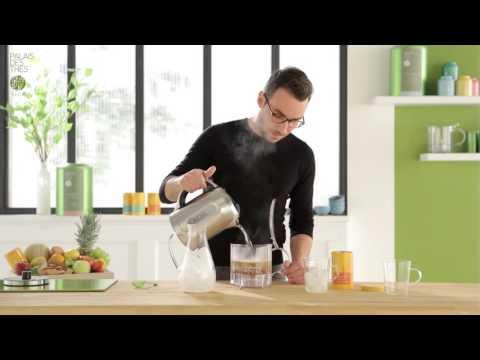 """Préparation du thé glacé """"minute"""" avec l'Infuseur Palais des Thés"""