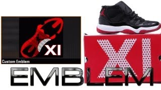 Black Ops 2 Air Jordan 11 Emblem XI SOLE BREDS (NIKE)