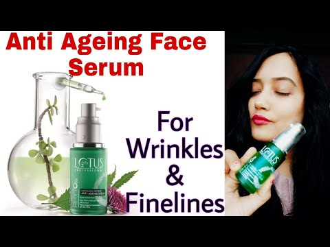 Lotus Herbals Phyto-Rx Intensive Repair Anti Ageing Serum Review || For Wrinkles And Finelines