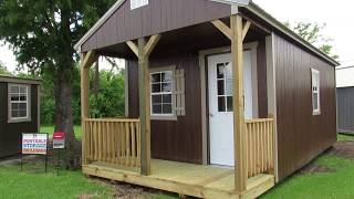 New 12x24 Derksen Urethane Finish Cabin At Big W's Portable Buildings
