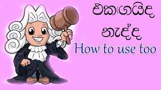 How to use too   learn English in sinhala