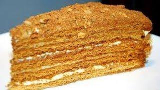 Торт «Медовик» со сметанным кремом.(Мягкий нежный медовый торт,буквально тает во рту. Такой торт делают с разными кремами, в этом рецепте я пред..., 2014-04-04T12:59:13.000Z)