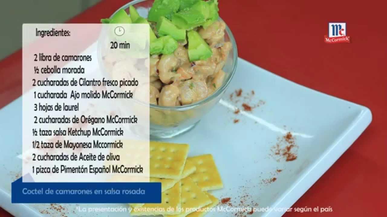 C ctel de camarones en salsa rosada youtube - Coctel de marisco ingredientes ...