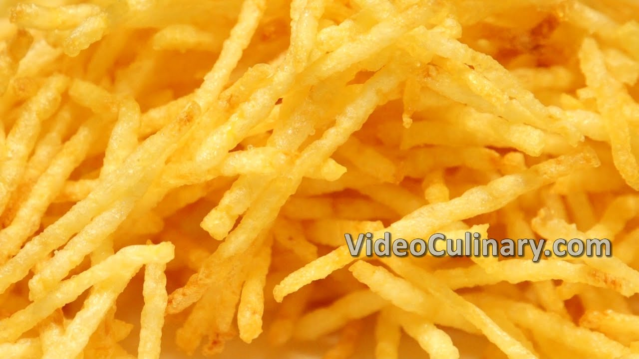 Thin French Fries Recipe Crispy Straw Potatoes Youtube