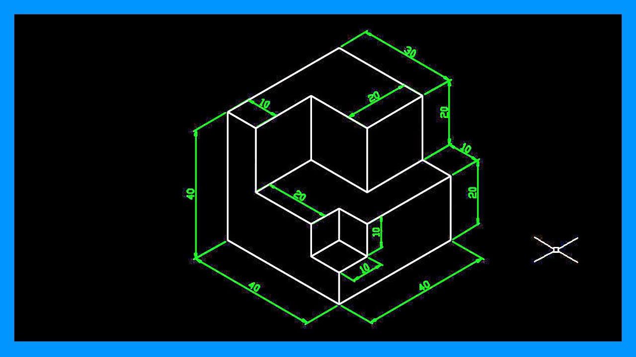 Autocad dibujar en isom trico crear dibujo isom trico for Programa para dibujar en 3d gratis