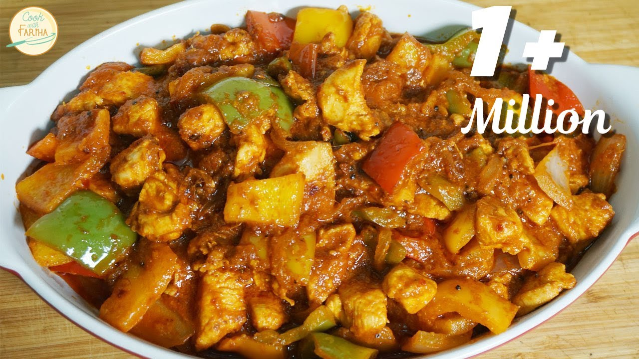 Chicken Jalfrezi Recipe Restaurant Style With English Subtitle Recipe By Cook With Fariha Youtube