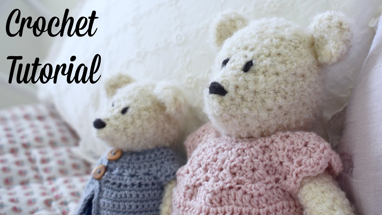PATTERN: Classic crocheted teddy bear 4-way jointed | Etsy | 720x1280
