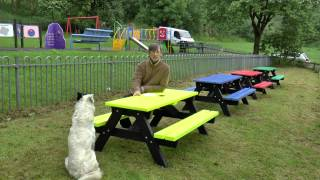 Ribble Rainbow Recycled Plastic Junior Picnic Table
