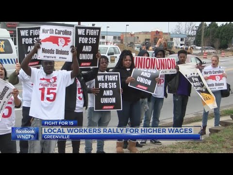 Greenville fast food workers rally for $15 an hour minimum wages