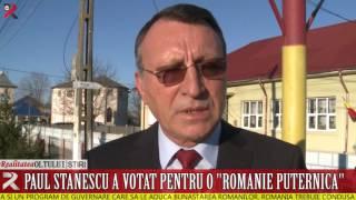 """Paul Stănescu a votat pentru o """"Românie puternică"""""""