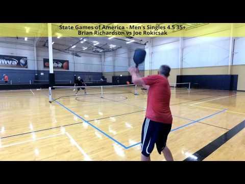 State Games of America - Men's Singles 4.5 35+ Brian Richardson vs Joe Rokicsak