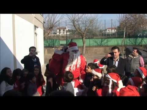 Pai Natal na EB1 de Fraião   Tamel S  Veríssimo