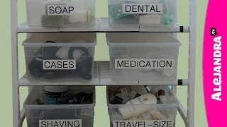 Bathroom Cabinet Organization Tips