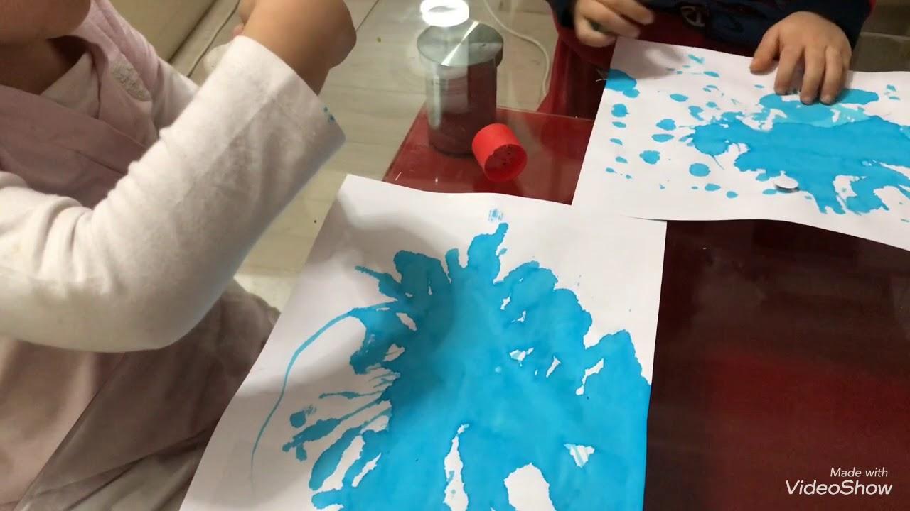 Ufleyerek Olusturulan Sevimli Mikroplar Montessori Etkinlikleri