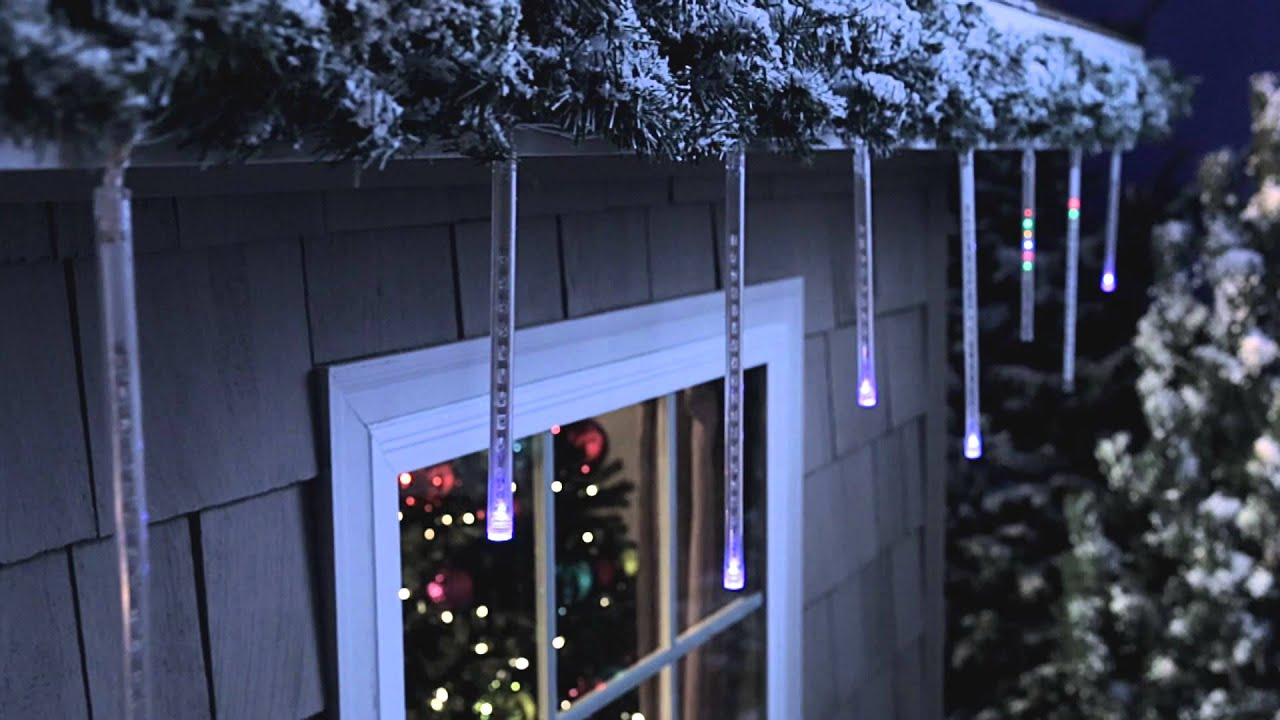 philips led cascading icicle light set 12 count can e youtube - Icicle Christmas Decorations