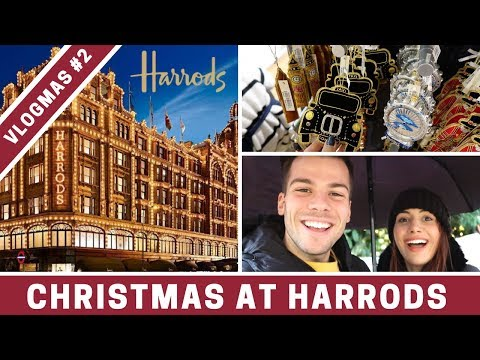 Inside HARRODS at Christmas | VLOGMAS DAY 2