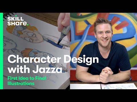 Jazza's Character Design Class: From Idea to Illustration | Skillshare Trailer