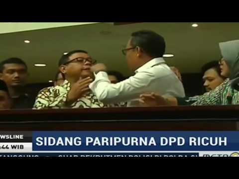 Heboh!!! Sidang Paripurna DPD Rusuh, Saling Dorong, Saling Tonjok Seperti PREMAN