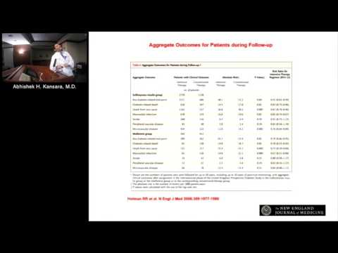 Update on Diabetes Medicines and Their Effect on the Heart (Abhishek H. Kansara, MD) March 10, 2016