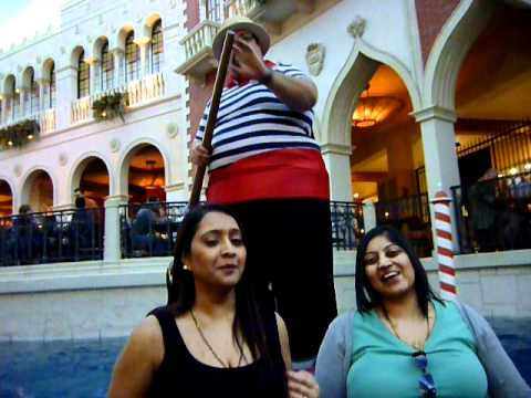 Opera Singing on the Goldola Ride at the Venetian, Las Vegas