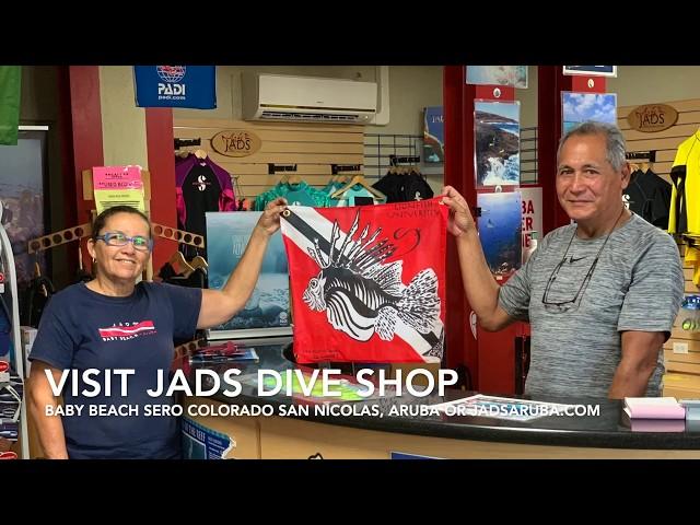 VISITING JADS DIVE CENTER IN ARUBA - A Lionfish Friendly Shop