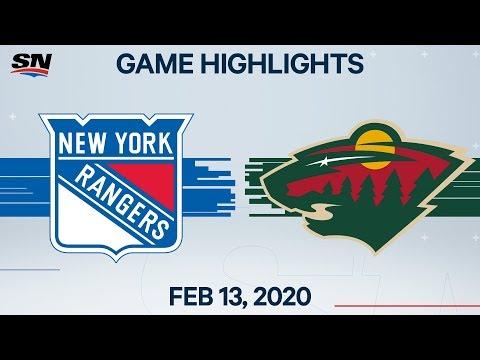 NHL Highlights | Rangers Vs. Wild – Feb. 13, 2020