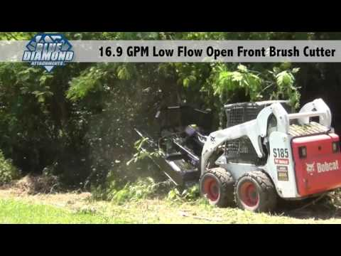 Open Front Brush Cutter : Low flow 16 9 gpm demo - YouTube