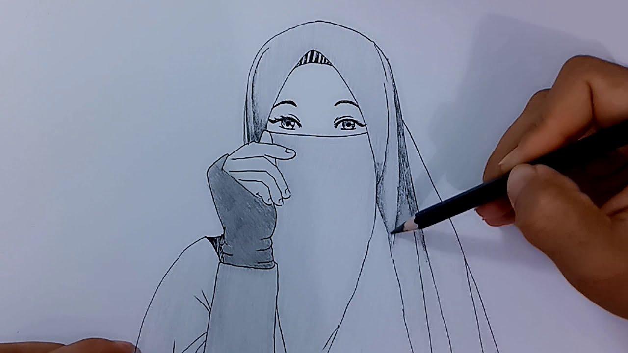 Cara Menggambar Orang Atau Anime Berhijab Youtube