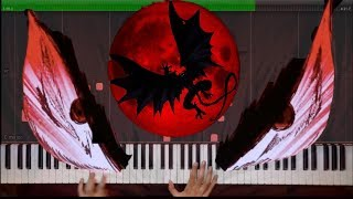 Piano Solo~From Here to Eternity~ Devilman Crybaby OST ~ Synthesia Tutorial