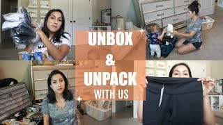 UNBOX AND UNPACK WITH US // FABLETICS TRY ON // TIPS FOR UNPACKING